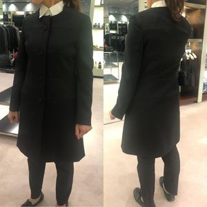 🆕 Prada collarless coat jacket button trench IT38